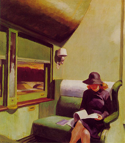 Compartment Car Edward Hopper