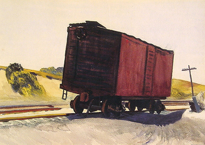 Freight Car at Truro Edward Hopper