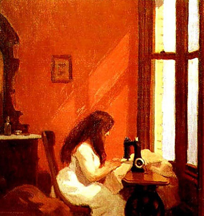 Girl at Sewing Machine Edward Hopper