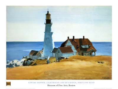 Lighthouse Porthead Edward Hopper