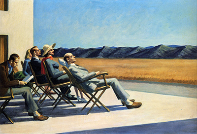 People In The Sun Edward Hopper