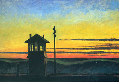Railroad Sunset Edward Hopper