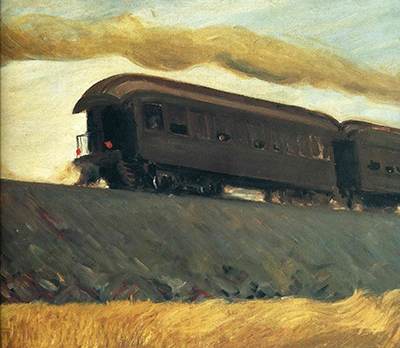 Railroad Train Edward Hopper