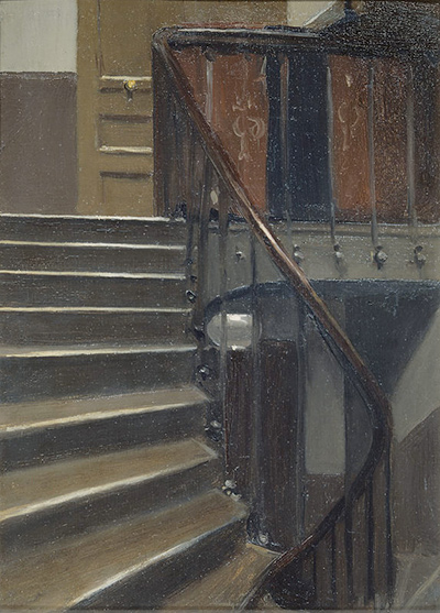 Stairway at 48 Rue de Lille Paris Edward Hopper