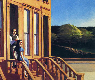 Sunlight on Brownstones Edward Hopper