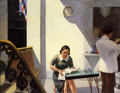 The Barber Shop Edward Hopper