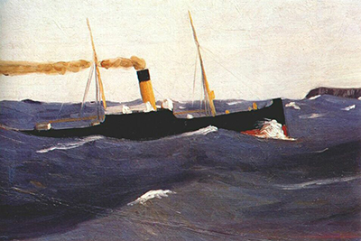 Tramp Steamer Edward Hopper